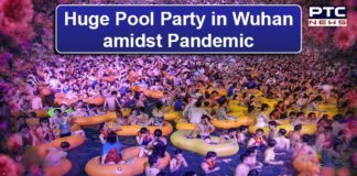 Wuhan hosts huge pool party as Coronavirus threat lessens