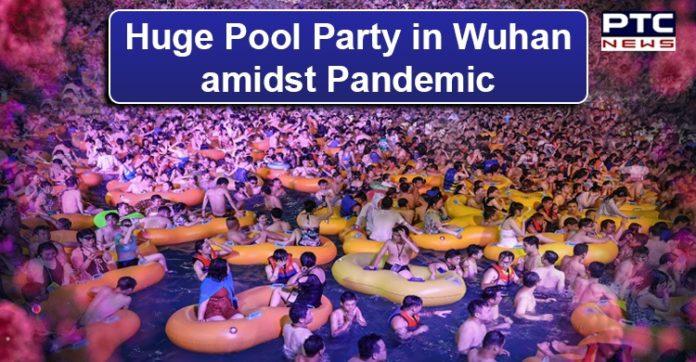Wuhan hosts huge pool party as Coronavirus threat lessens