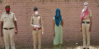 Woman caught with heroin in police raid | Haryana Police
