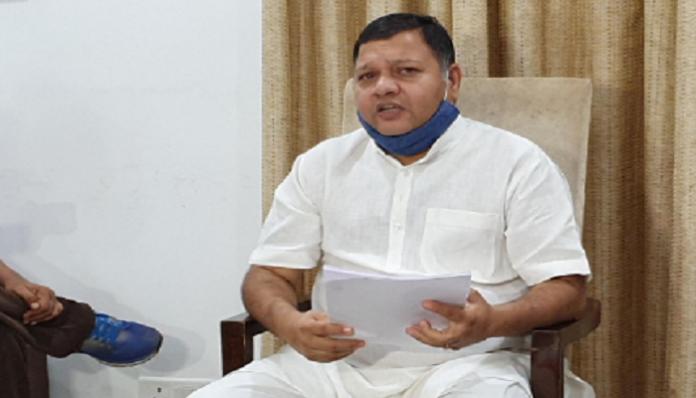 Congress MLA Neeraj Sharma raise corruption issue in BJP Govt