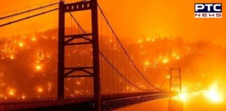 San Francisco Bay Area skies turned orange during California wildfires