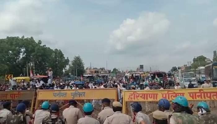 Congress tractor rally stopped at Samalkha Haryana News