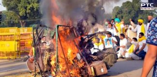 Tractor set on fire at India Gate in Delhi, 5 Punjab residents detained