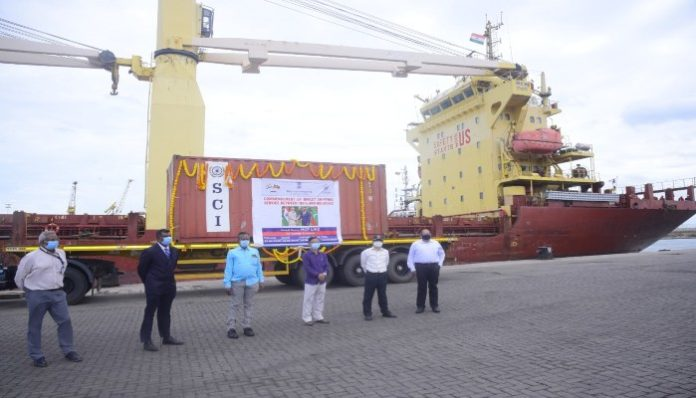 Direct cargo ferry service between India and Maldives starts