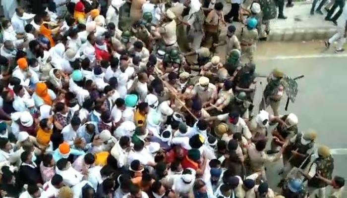 Farmers Bharat Bandh Police Deployed to Maintain Law and order