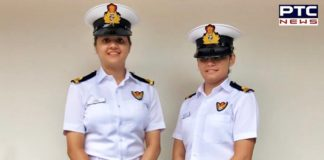 First time 2 women officers to be helicopter Airborne Tacticians in Indian Navy warships