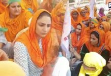 Punjabi actress Japji Khaira joins 'rail roko' agitation with Kisan Mazdoor Sangharsh Committee
