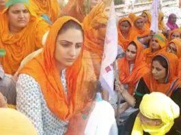 Punjabi actress Japji Khaira joins 'rail roko' agitation with Kisan Mazdoor Sangharsh Committee