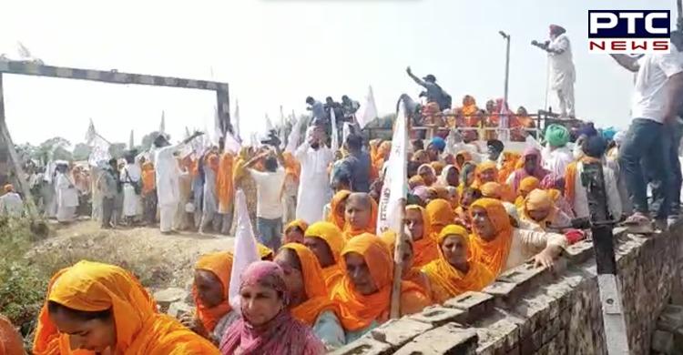farmers protest in punjab: Punjabi actress Japji Khera joins 'rail roko' agitation with Kisan Mazdoor Sangharsh Committee