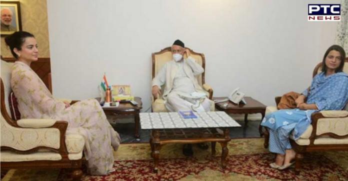 Kangana Ranaut, sister Rangoli meet Governor of Maharashtra at Raj Bhavan