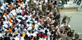 Lathi charge on farmers going for Pipli rally Haryana Latest News
