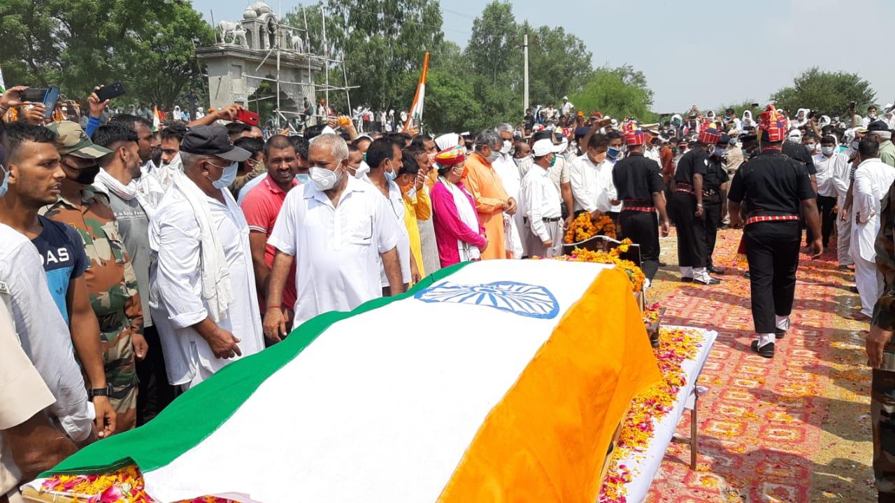 Martyr Bhupendra Singh Cremation in Bhiwani  Haryana Latest News
