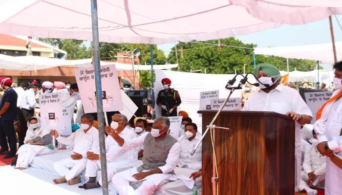OP Dhankhar on Punjab CM Captain Amarinder Singh Dharna