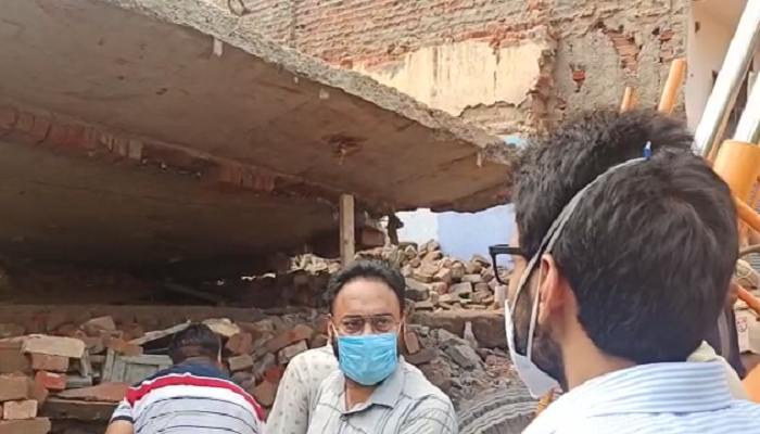 Old building collapsed in Derabassi, Many People Trapped in Debris