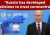 Russia has developed medicines to detect and treat coronavirus: Russian President