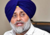 Sukhbir Singh Badal urges the President of India not to sign the bills on farm issues