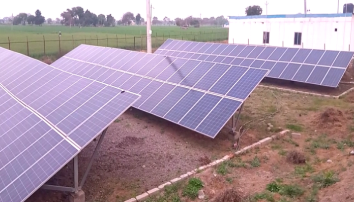 Subsidy on solar pump installation   Haryana News in Hindi