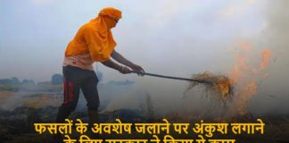To Curb burning of crop residues Govt created zones