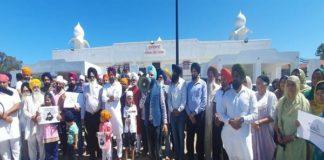 Protest against Farm bill in brisbane