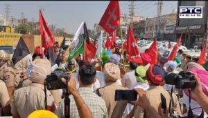Farmers Protest Against Punjab BJP president Ashwani Sharma's in Ludhiana