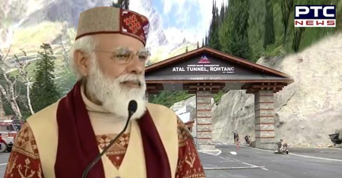 Atal tunnel will give new strength to India's border infrastructure: PM Modi