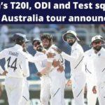 BCCI announces India's T20I, ODI and Test squads for Australia tour