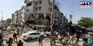 Pakistan : Bomb blast in a building in Karachi ,3 Killed, 15 Injured