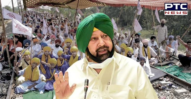 Rail Roko agitation by Punjab farmers: Captain Amarinder Singh wrote an open letter to Bharatiya Janata Party (BJP) president JP Nadda.