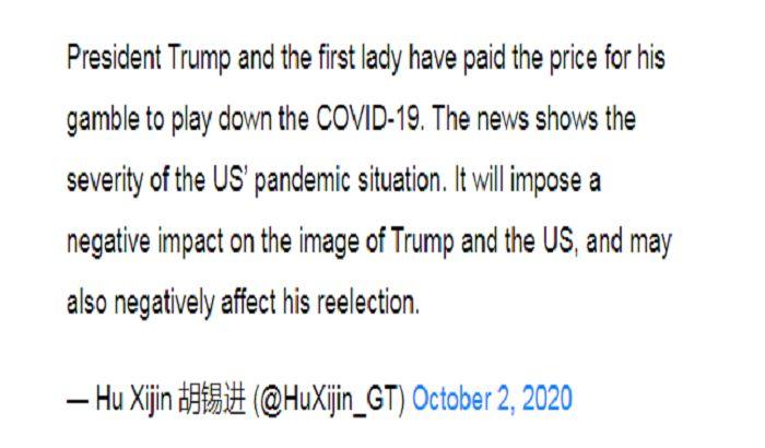 China Media Reaction on Donald Trump Coronavirus Update