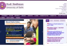 DU online admissions