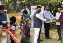 Delhi: Handcrafted soap distributed at Bandhu Camp