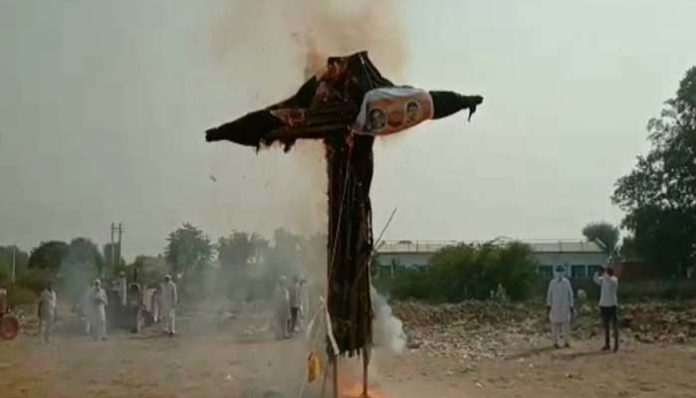 Govt Effigies Burnt