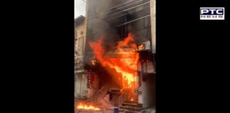 fire broke showroom in Model Town area of ​​Jalandhar