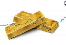 Gold spot price higher than week's average, silver prices edged higher