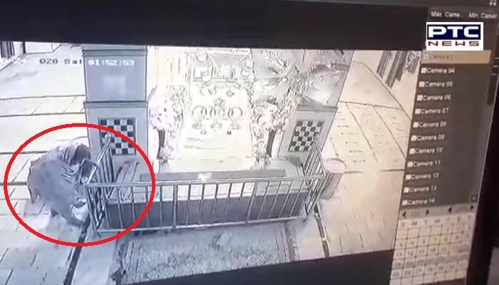 Thieves broke into Gurdwara Sahib and stole money, captured on video CCTV camera