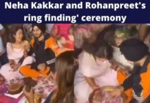 Watch: Neha Kakkar and Rohanpreet Singh perform 'ring finding' ceremony