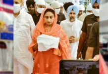 Harsimrat leads Kisan March after paying obeisance at Takht Sri Damdama Sahib