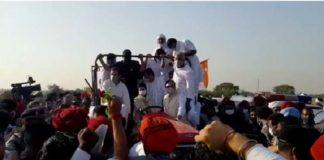 Rahul Gandhi Kheti Bachao Yatra entered in Haryana