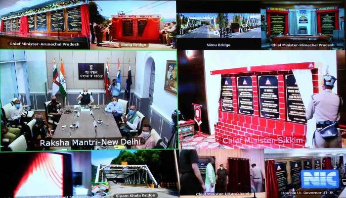 44 major permanent bridges Inauguration, Defence Minister Rajnath Singh, Nechiphu Tunnel Foundation Stone, BRO Projects, India China Faceoff,