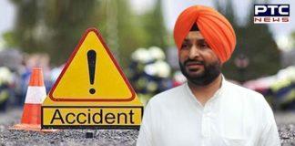 Congress MP Ravneet Singh Bittu Road accident near Banur