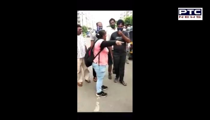 Amritdhari Sikh woman Clashes with Auto driver ,Sri Sahib in self defense