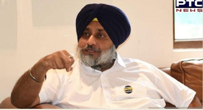 Sukhbir Singh Badal assails Narendra Modi , Captain Amarinder Singh on farm laws, Golden temple