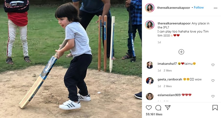 Kareena Kapoor posted Taimur Picture while IPL 2020 is underway. Meanwhile, Delhi Capitals' Responds. Delhi Capitals IPL 2020