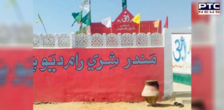 temple vandalized Pakistan