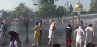 Water canon used on farmers in Sirsa | Haryana News