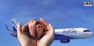 birth to baby boy on board Indigo flight travelling from Delhi to Bengaluru