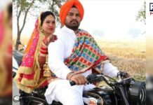 Newly bride dolly on bullet in Punjab , got married without dowry