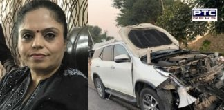 Manisha Gulati Chairperson of Punjab Women Commission injured in road accident in Amritsar