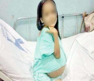 minor girl gave birth to a baby child in Kheri Gandian