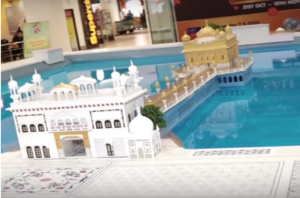 model of golden temple
